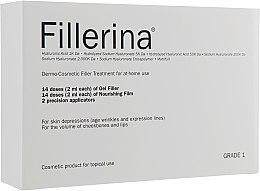 Духи, Парфюмерия, косметика Дермато-косметическая система, уровень 1 - Fillerina Dermo-Cosmetic Filler Treatment Grade 1 (gel/30ml + cr/30ml + applicator/2szt)