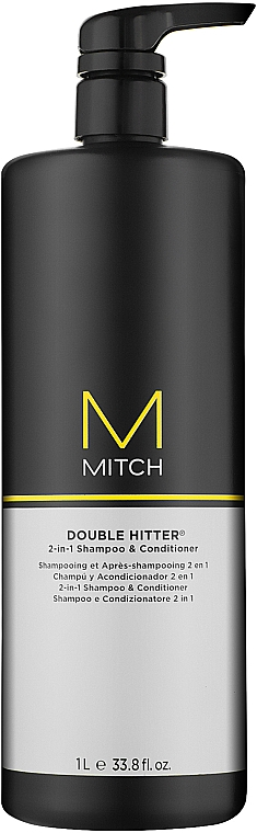Шампунь и кондиционер 2 в 1 - Paul Mitchell Mitch Double Hitter 2 in 1 Shampoo & Conditioner  — фото N2