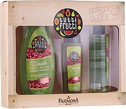 Духи, Парфюмерия, косметика Набор - Farmona Tutti Frutti Pear & Cranberry Set (sh/gel/425ml + b/peel/100ml + b/spray/200ml)