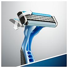 Набор одноразовых станков для бритья, 3шт - Gillette Blue 3 — фото N6
