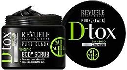Духи, Парфюмерия, косметика Скраб для тела - Revuele Pure Black Detox Volcanic Body Scrub