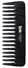 Духи, Парфюмерия, косметика Маленький гребень для волос с широкими зубцами, черный - Tek
