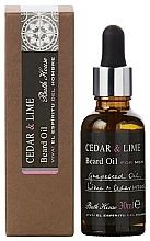 Духи, Парфюмерия, косметика Bath House Cuban Cedar & Lime - Масло для бороды
