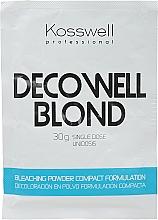 Духи, Парфюмерия, косметика Осветляющий порошок, голубой - Kosswell Professional Decowell Blond