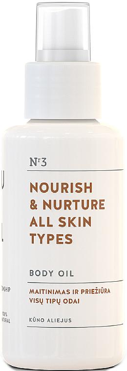 Питательное масло для тела для всех типов кожи - You & Oil Nourish & Nurture Body Oil — фото N1