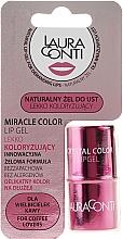 Духи, Парфюмерия, косметика Увлажняющий гель для губ с розовым оттенком - Laura Conti Miracle Color Lip Gel