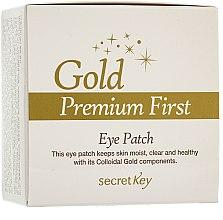 Духи, Парфюмерия, косметика Маска для контура глаз - Secret Key Gold Premium First Eye Patch
