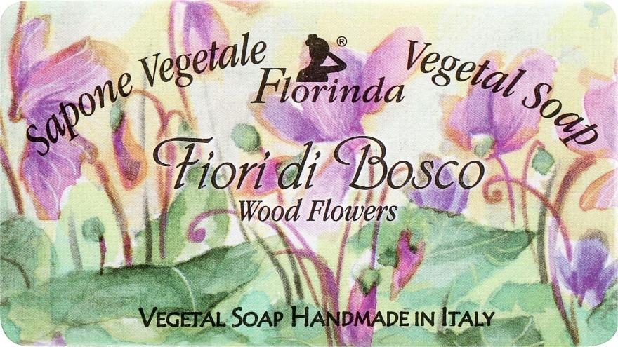 """Мыло натуральное """"Лесные цветы"""" - Florinda Sapone Vegetale Vegetal Soap Wood Flowers — фото N1"""