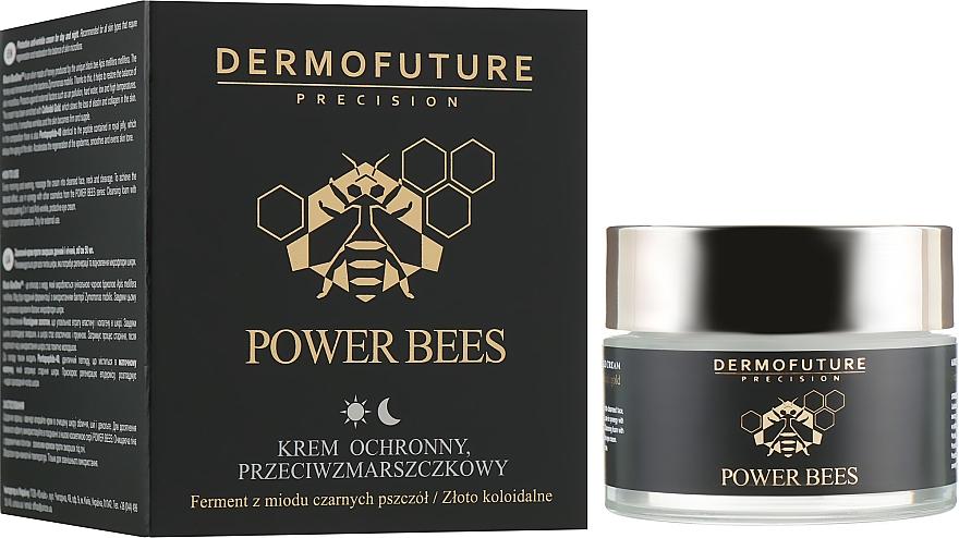 Защитный крем для лица против морщин - Dermofuture Power Bees Protective Anti-wrinkle Cream — фото N1