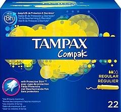 Духи, Парфюмерия, косметика Тампоны с аппликатором, 22шт - Tampax Compak Regular