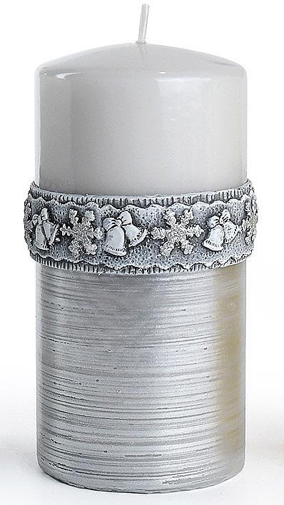 Декоративная свеча, серая, 7x18 см - Artman Christmas Time — фото N1
