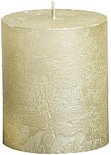 Духи, Парфюмерия, косметика Свеча цилиндрическая Metallic Ivory, 80/68 мм - Bolsius Candle