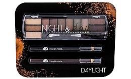 Духи, Парфюмерия, косметика Набор - Cosmetic 2K Night & Day (eye/sh/8,16g + eye/pen/2x0,6g)