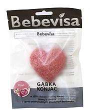 "Духи, Парфюмерия, косметика Спонж для умывания, сердце ""Роза"" - Bebevisa Konjac Sponge"