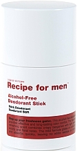 Духи, Парфюмерия, косметика Дезодорант - Recipe For Men Alcohol Free Deodorant Stick
