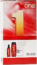 Духи, Парфюмерия, косметика Набор - Revlon Professional Uniq One Uniqone Duo Pack (spray/150ml + sham/condit/300ml)