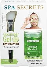 Духи, Парфюмерия, косметика Набор - Spa Secrets Cucumber Gel Face Mask (mask/140ml + brush/mask/1pcs)