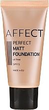 Духи, Парфюмерия, косметика Матирующая тональная основа - Affect Cosmetics Perfect Matt Foundation