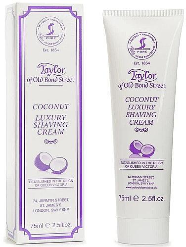 """Крем для бритья """"Кокос"""" - Taylor of Old Bond Street Coconut Luxury Shaving Cream (в тубе) — фото N1"""