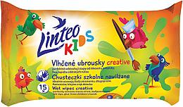 Духи, Парфюмерия, косметика Детские влажные салфетки - Linteo Kids Creative
