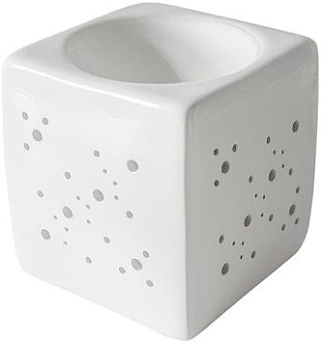 Аромалампа квадратная, белая - Flagolie By Paese Cube Fireplace White — фото N1