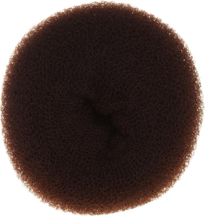 Валик для прически, 15х6.5 см, коричневый - Ronney Professional Hair Bun 053 — фото N1