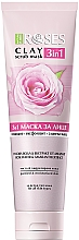 Духи, Парфюмерия, косметика Глиняная маска для лица с розовой водой и амарантом - Nature Of Agiva Roses Pink Clay 3 In 1 Scrub Mask