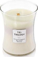 Духи, Парфюмерия, косметика Ароматическая свеча в стакане - WoodWick Hourglass Trilogy Candle Terrace Blossoms
