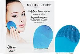 Духи, Парфюмерия, косметика Звуковая щетка для очищения лица, синяя - DermoFuture Sonic Facial Cleansing Brush