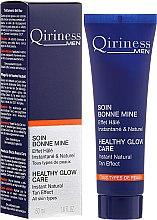 Духи, Парфюмерия, косметика Освежающий гель для лица с тонирующим эффектом - Qiriness Men Healthy Glow Care Instant Natural Tan Effect