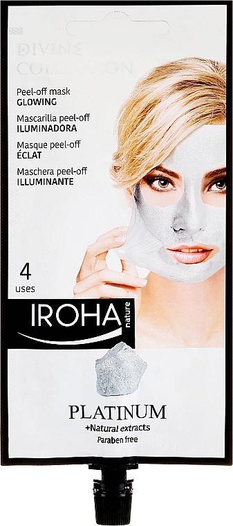 Маска для лица - Iroha Nature Platinum Peel Off Mask Glowing 4 Uses — фото N1