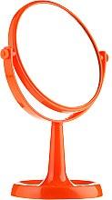 Духи, Парфюмерия, косметика Зеркало на подставке 85734, круглое, 15,5 см, оранжевое - Top Choice Colours Mirror