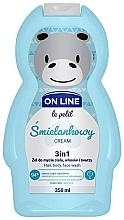"Духи, Парфюмерия, косметика Средство для мытья волос тела и лица ""Крем"" - On Line Le Petit Cream 3 In 1 Hair Body Face Wash"