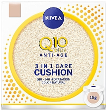 Духи, Парфюмерия, косметика Тональный кушон - Nivea Anti-Age Q10 plus 3 In 1 Care Cushion