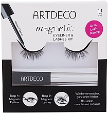 Духи, Парфюмерия, косметика Набор - Artdeco Magnetic Eyeliner & Lashes Kit 11 Daily Dress (eyeliner/5ml + lashes)
