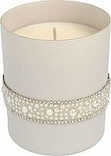 Духи, Парфюмерия, косметика Ароматическая свеча, 8х9,5 см, серая - Artman Crystal Glass Pearl