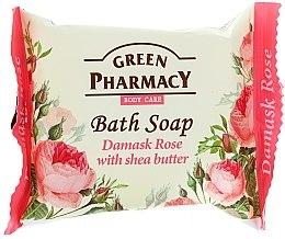 "Духи, Парфюмерия, косметика Мыло ""Дамасская роза с маслом ши"" - Green Pharmacy"