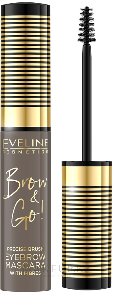 Тушь для бровей - Eveline Cosmetics Brow & Go!Eyebrow Mascara — фото 01-Light