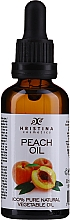Масло персиковое 100% - Hristina Cosmetics Pure Peach Oil 100% — фото N1