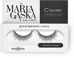 Духи, Парфюмерия, косметика Накладные ресницы - Clavier Quick Premium Lashes Natural Beauty 827