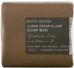 Духи, Парфюмерия, косметика Bath House Cuban Cedar & Lime - Парфюмированное мыло