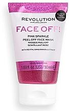 Духи, Парфюмерия, косметика Пилинг-маска для лица - Revolution Skincare Face Off! Pink Glitter Face Off Mask