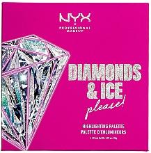Духи, Парфюмерия, косметика Палетка хайлайтеров - NYX Professional Makeup Diamonds & Ice Please Diamond Highlighting Palette Quad