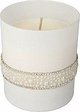Духи, Парфюмерия, косметика Ароматическая свеча, 8х9,5 см, белая - Artman Crystal Glass Pearl