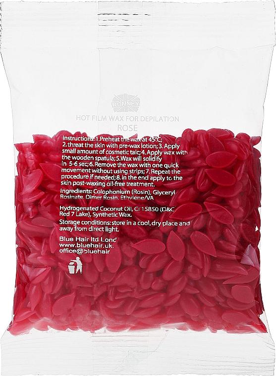 """Воск для депиляции в гранулах """"Роза"""" - Ronney Hot Film Wax Rose — фото N1"""