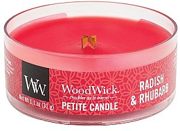 Духи, Парфюмерия, косметика Ароматическая свеча в стакане - Woodwick Petite Candle Radish & Rhubarb