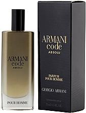 Духи, Парфюмерия, косметика Giorgio Armani Code Absolu - Духи (мини)
