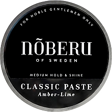 Духи, Парфюмерия, косметика Моделирующуя паста для волос - Noberu of Sweden Classic Paste Amber Lime