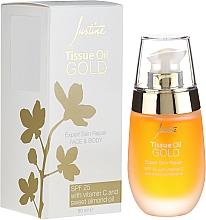 Духи, Парфюмерия, косметика Масло для лица и тела - Avon Justine Tissue Oil Gold