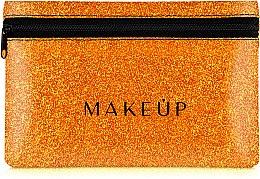 "Духи, Парфюмерия, косметика Косметичка силиконовая, оранжевая ""Glitter Pouch"", 18х11см - MakeUp"